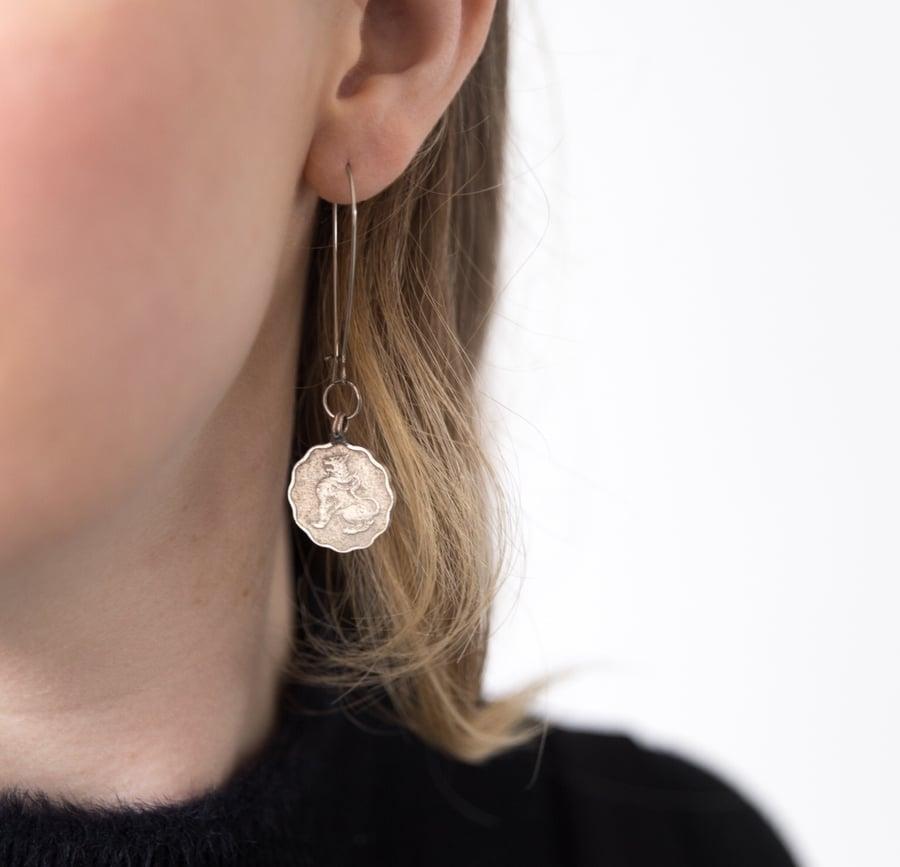 Image of Burmese Coin Earrings