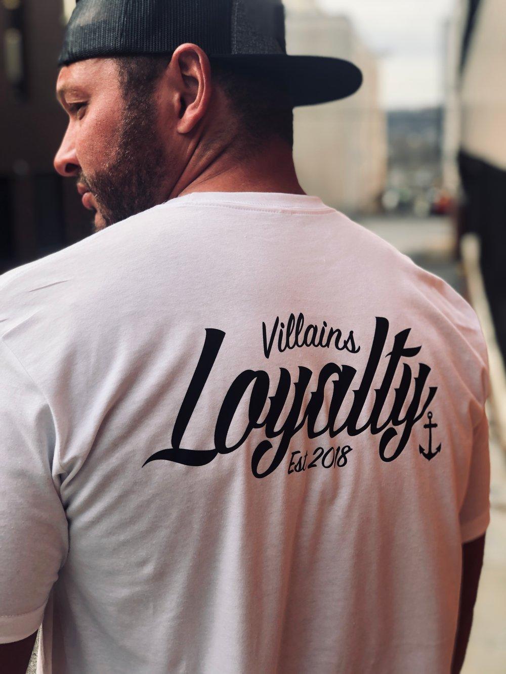 Villains loyalty white tee