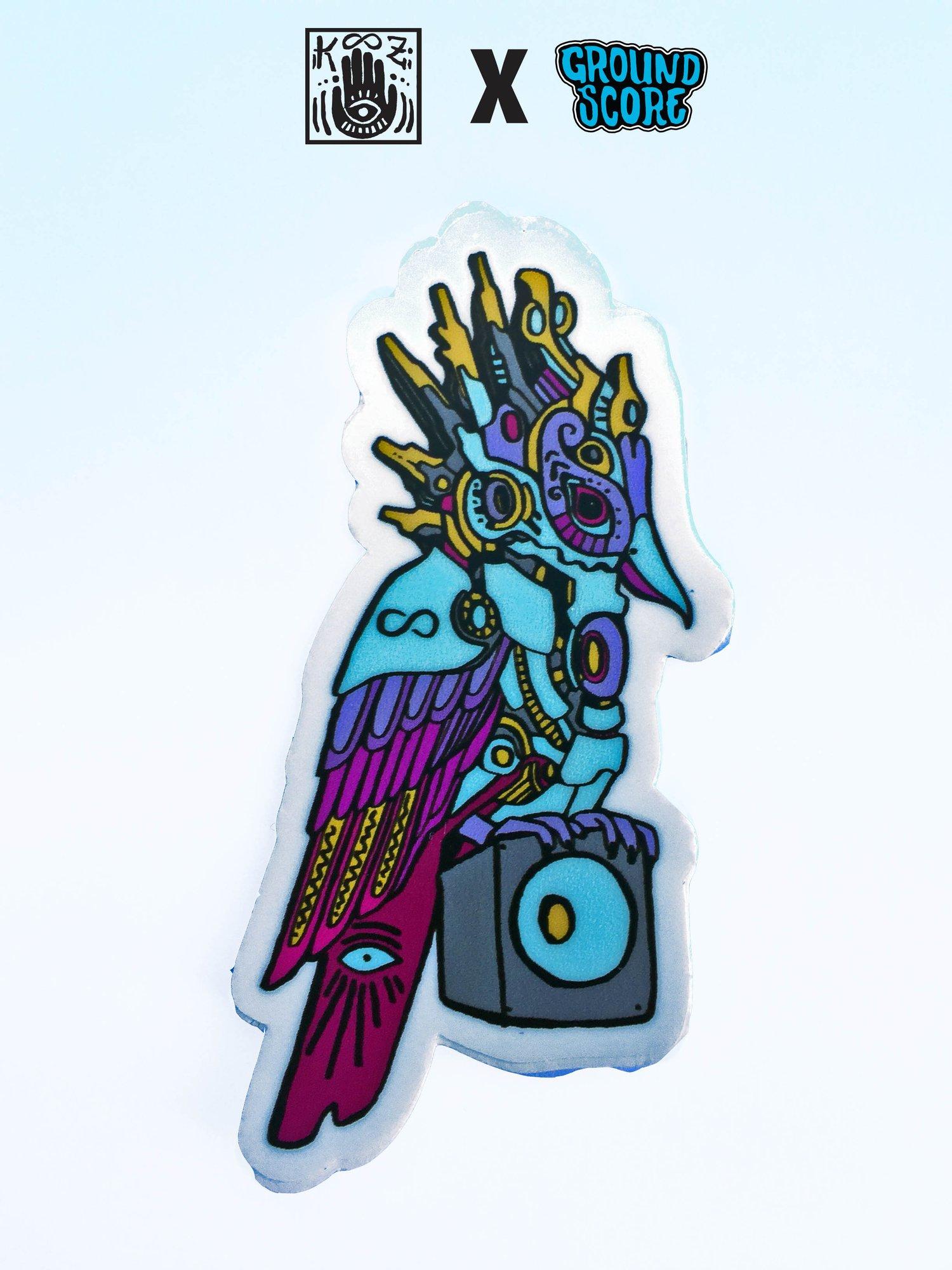 KOOZ - Speaker Bird V4 Sticker (5 Pack Combo)