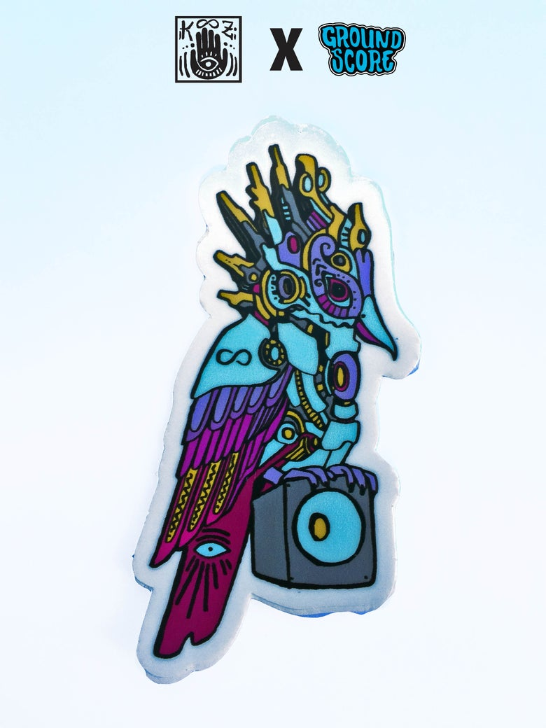 Image of KOOZ - Speaker Bird V4 Sticker (5 Pack Combo)
