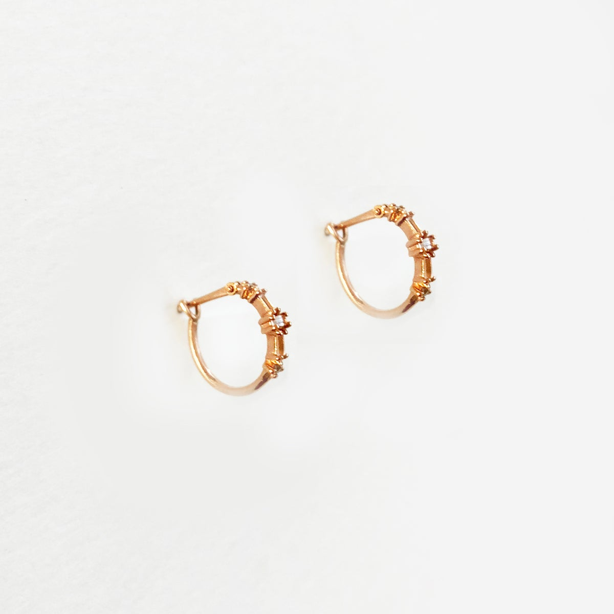 Image of Deco Mini Hoop Earring