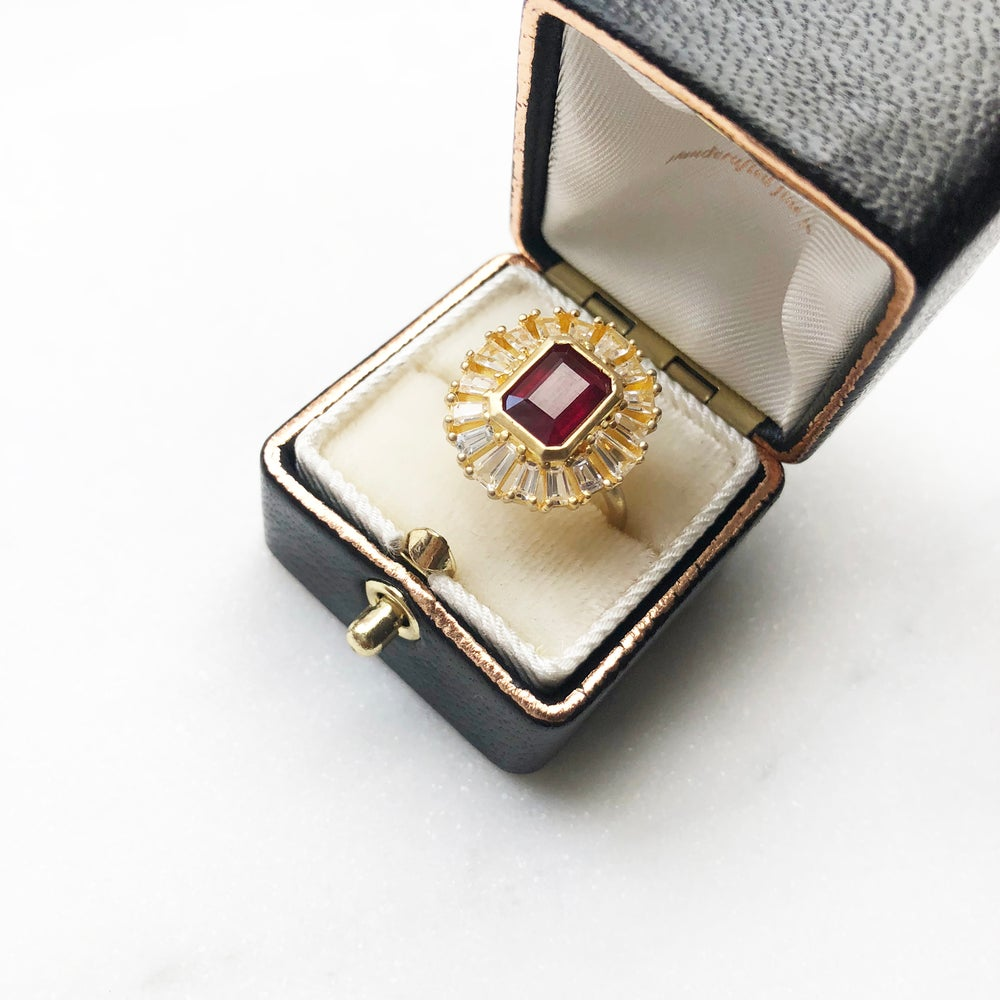 Image of Deco Ruby Statement Ring