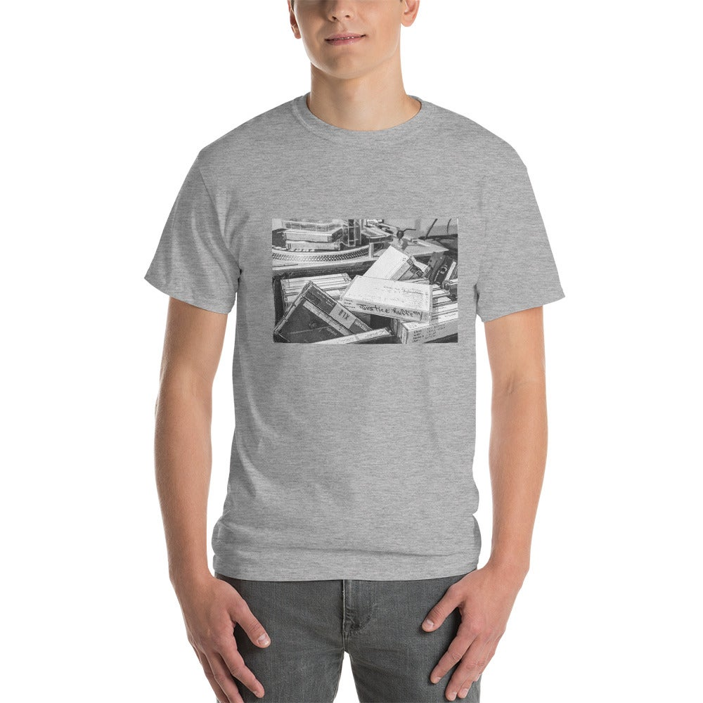 Image of Tapes & Turntables Grey Tee