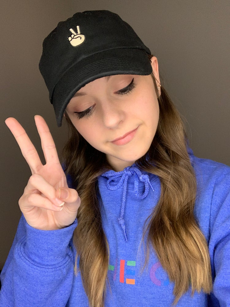 Image of Peace Sign Dad Hat