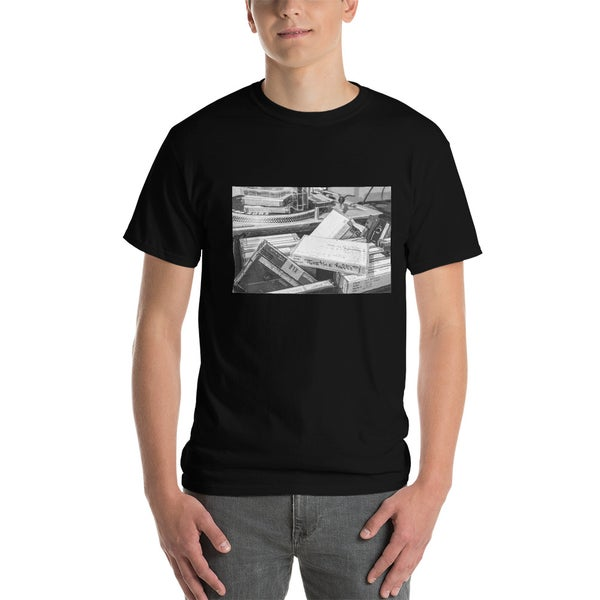 Image of Tapes & Turntable Black Tee
