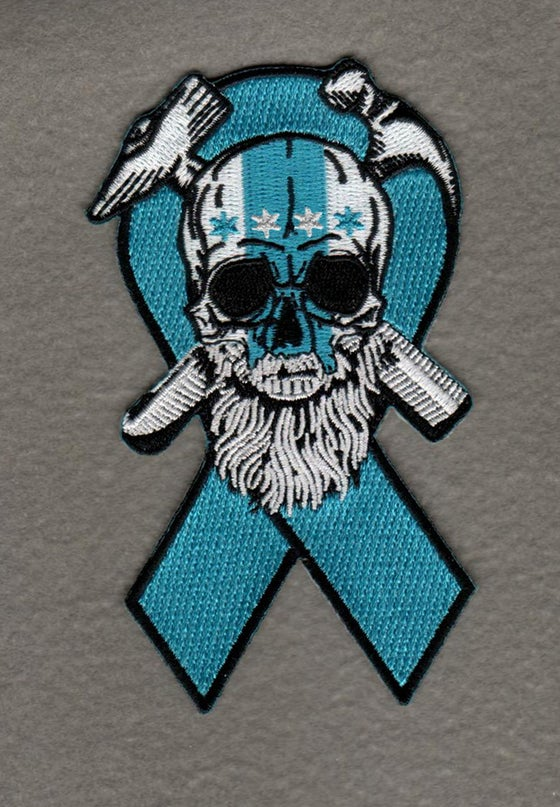Image of Exclusive Teal Ovarian Cancer Awareness  Jolly Roger patch!