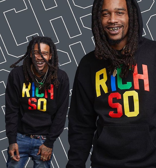 Image of Multi Color Hoodie (Black)