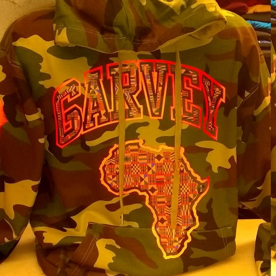 Image of GARVEY KENTE CAMO HOODY