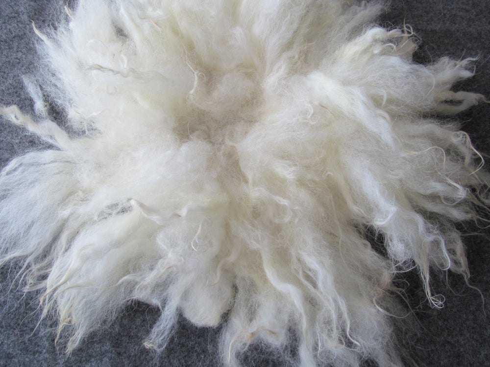 Image of Fluffy Fur Felted Rug Newborn Photography Posing Prop. Cream, Medium Size D . Ready to Ship. GAL