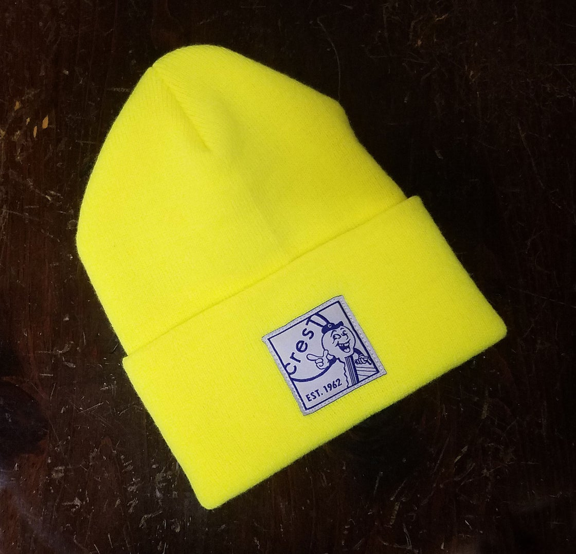Image of KEY GUY BEANIE - NEON YELLOW