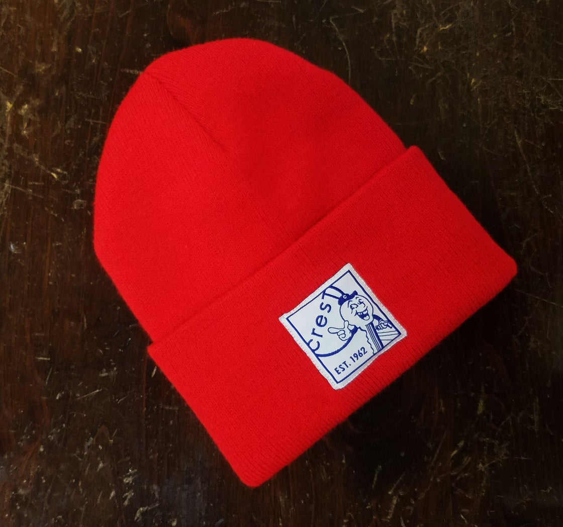 Image of KEY GUY BEANIE - NEON RED
