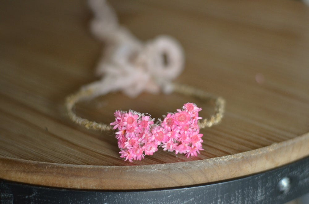 Image of FLORAL BOW HALO pink