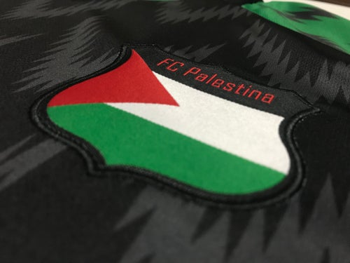 Image of Palestine Alternate Black/Green Football Shirt