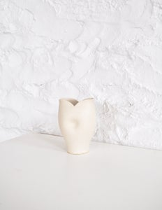 Image of Lily Dimple Vase - Matte Crackle