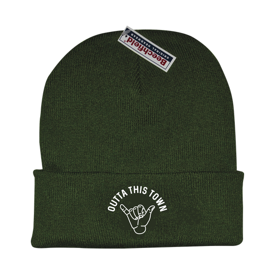 Image of Shaka Beanie Olive Green