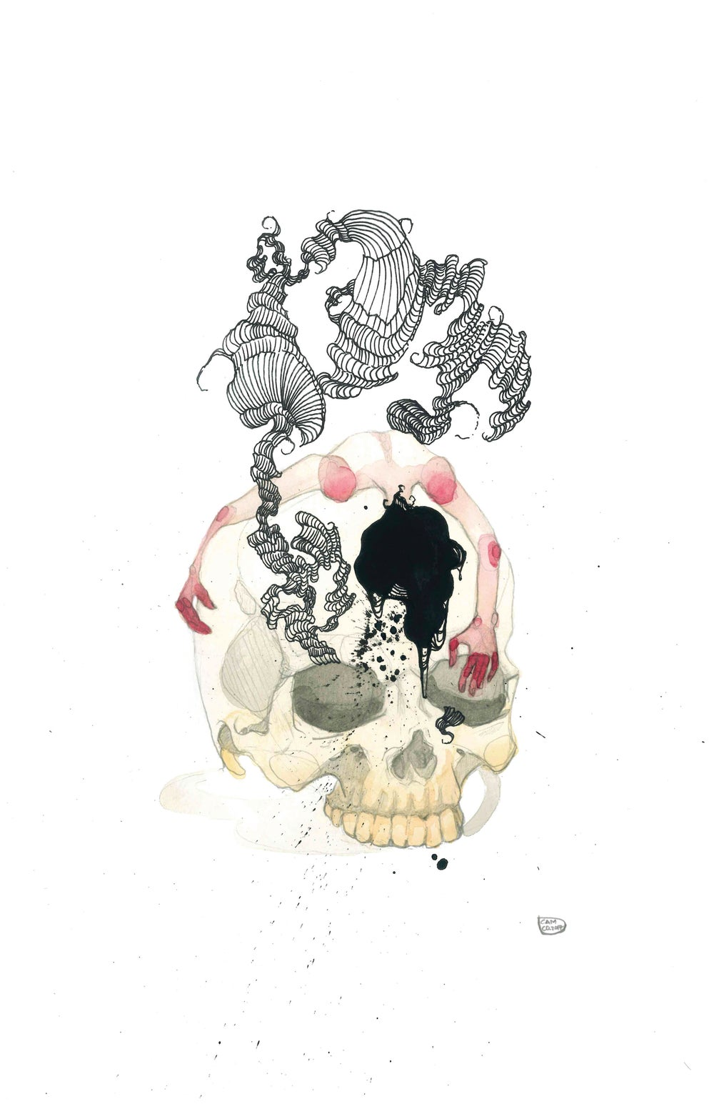 Image of Skull Girl (print)