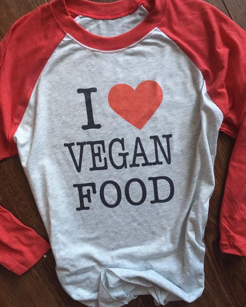 Image of Vegan food lover 3/4 sleeve unisex