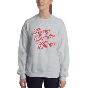 Image of Strong Capable Woman Grey Sweater