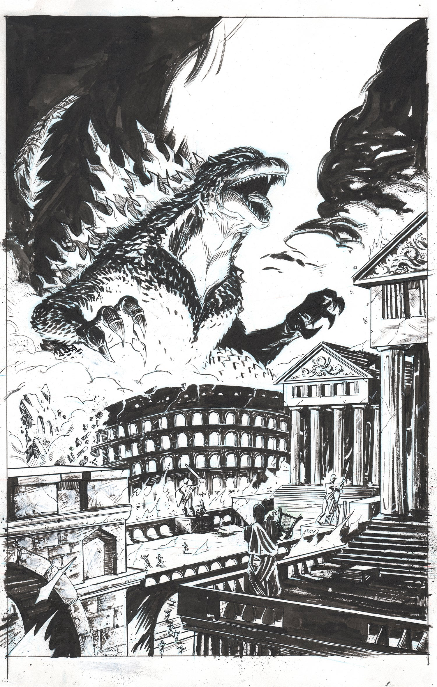 Image of Godzilla: Rage Across Time #5 (IDW) - Cover