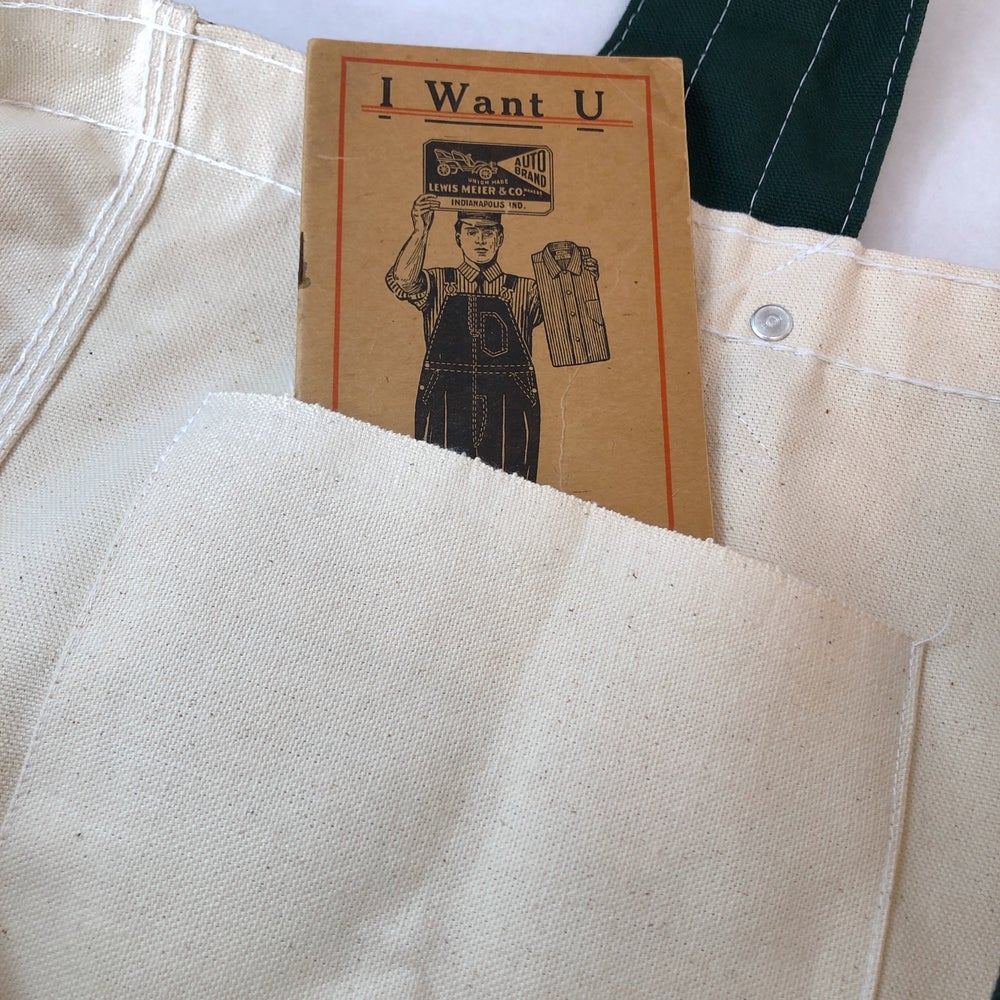 "Image of SFV MERCANTILE  ""Newspaper Boy"" ""Two-Tone"" Riveted Natural Canvas Bag"