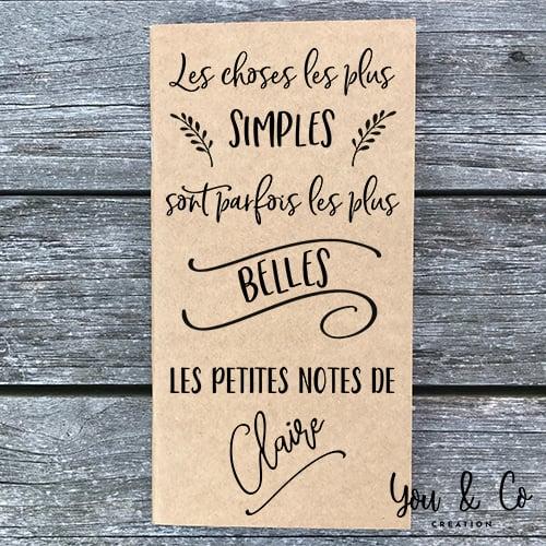 "Image of Carnet ""Les petites notes"" personnalisable"