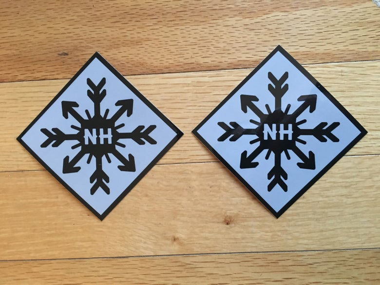 Image of NH snowflake sticker