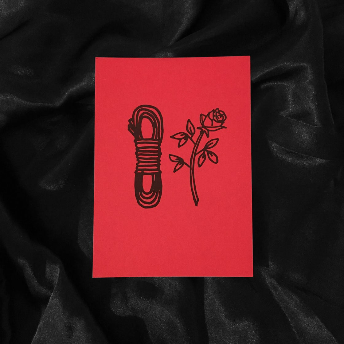 Image of ROPE ROSE card