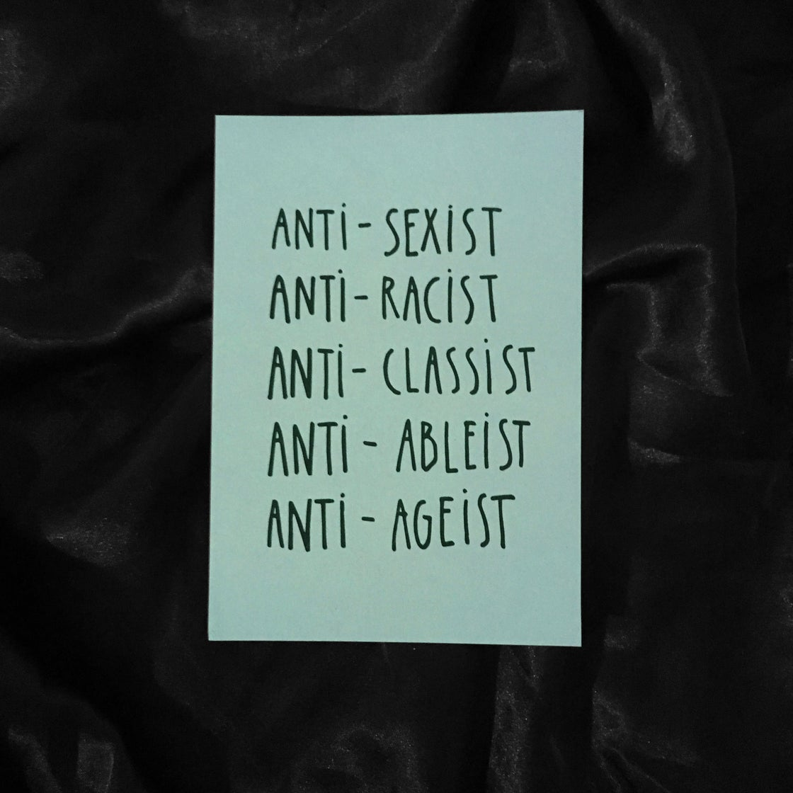 Image of ANTI BULLSHIT card