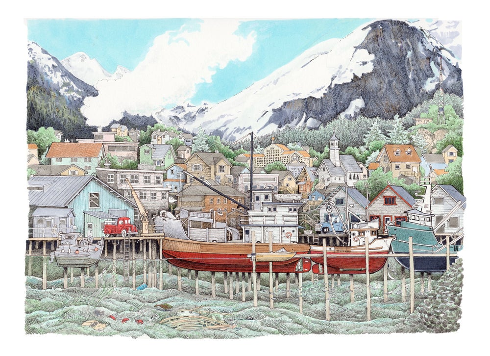 "Image of Cannery Dock No. 2 9"" X 12"""
