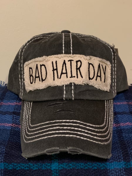 Image of Distressed Bad Hair Day cap