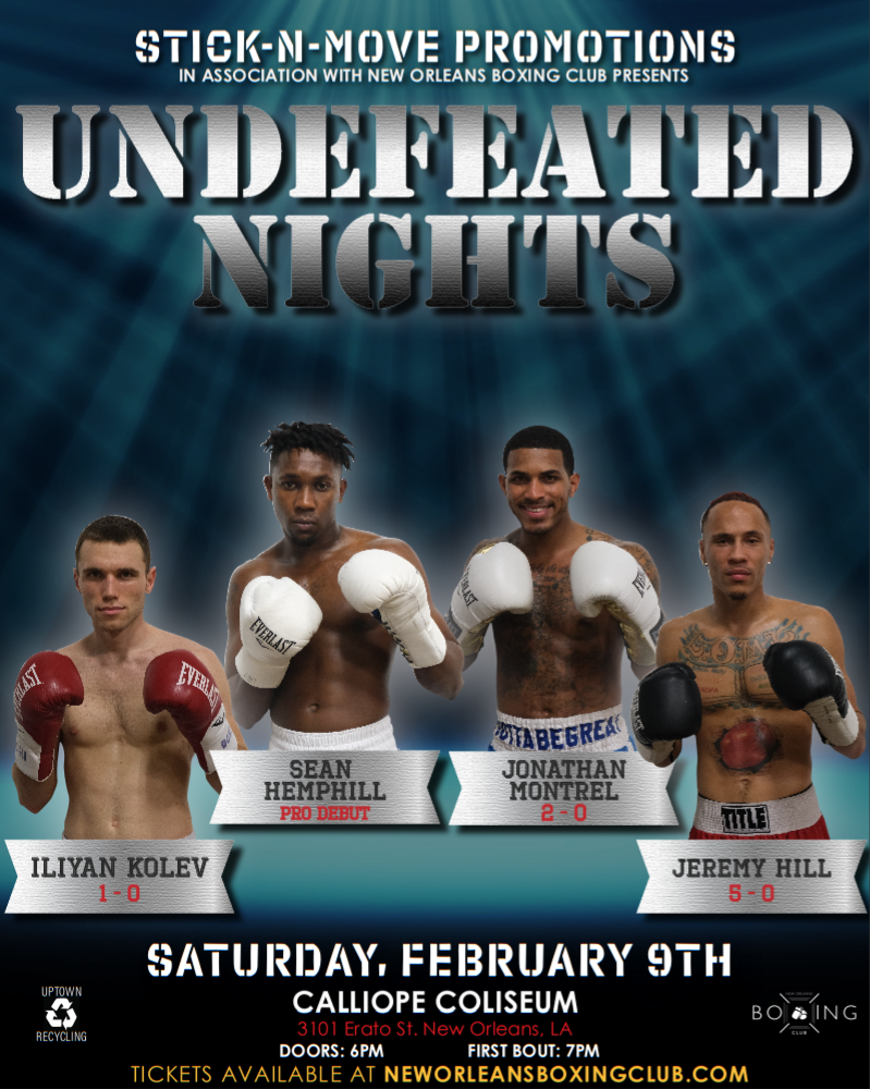 Image of TICKETS - Undefeated Nights: February 9th