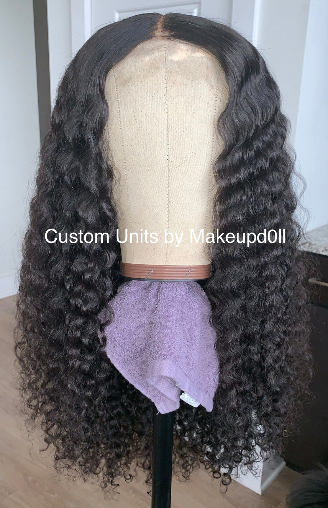 "Image of Brazilian Curly 28"" Custom Lace Closure Wig!"