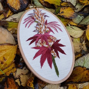 Image of Cannabis Embroidery/ 8x5 inch Oval hoop