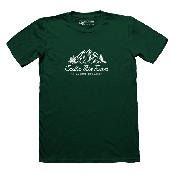 Image of Mountains T-shirt Forest Green