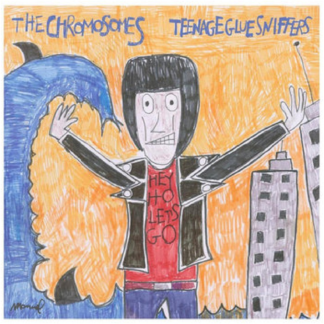 "Image of CHROMOSOMES / TEENAGE GLUESNIFFERS - SPLIT (7"")"