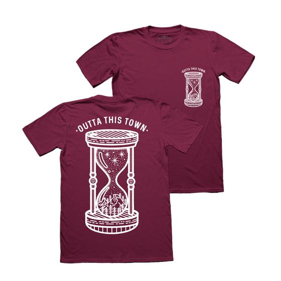 Image of Nature Hourglass T-Shirt Maroon
