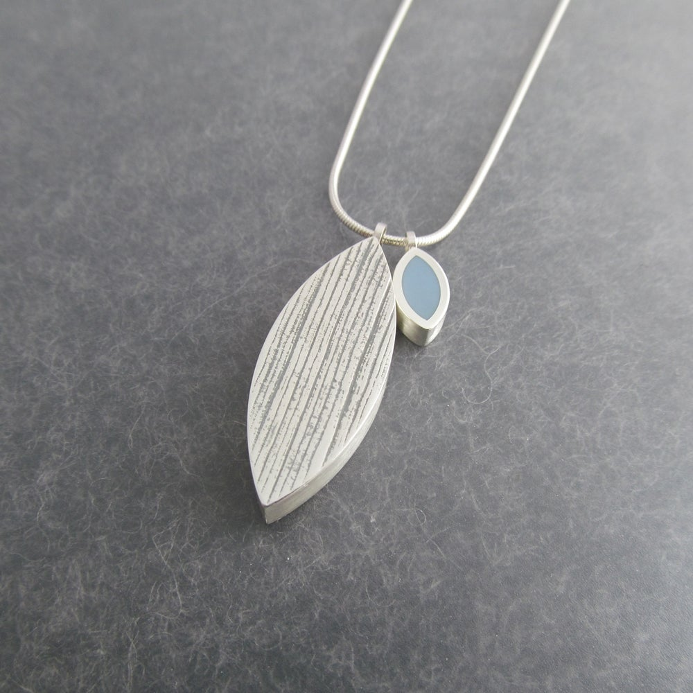 Image of Large Double Silver Leaf Pendant