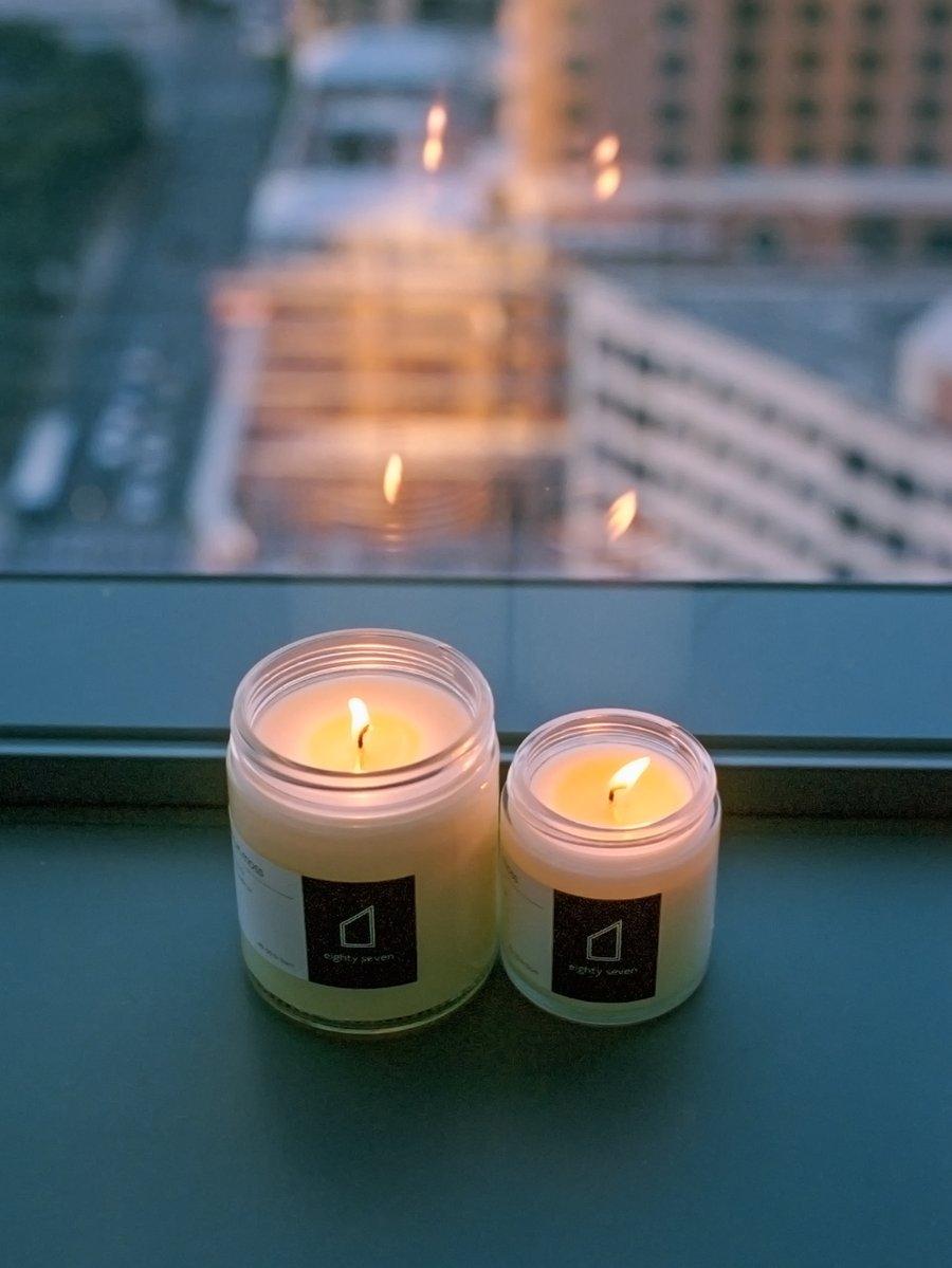 Image of Eighty Seven Candle- Sandalwood