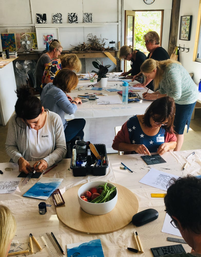 Image of Lino Printing Workshop - Half or Full day.