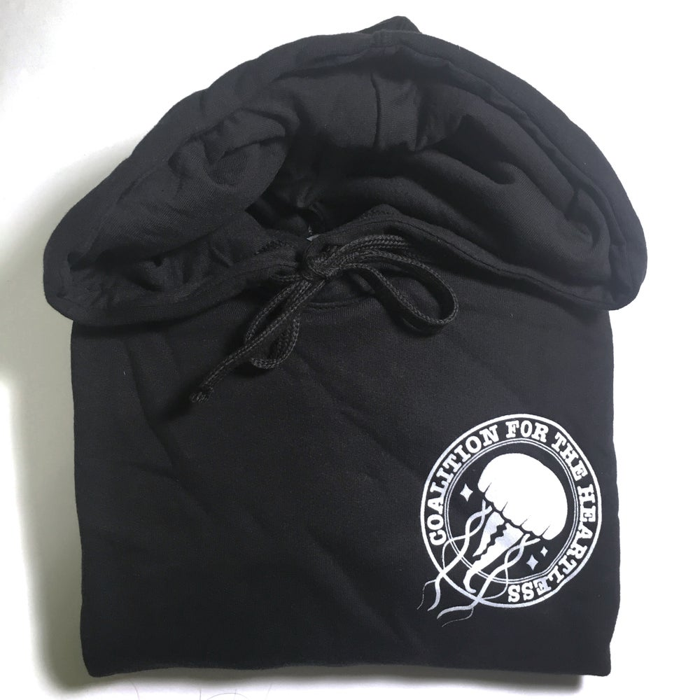 Image of coalition for the heartless | 50/50 pullover hoodie