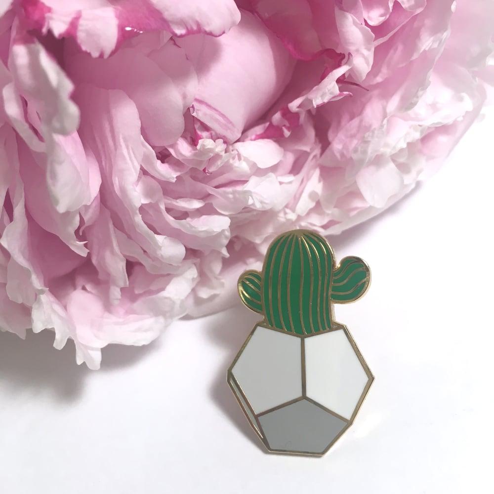 "Image of desert greenery | 1"" & 1.25"" enamel pins"