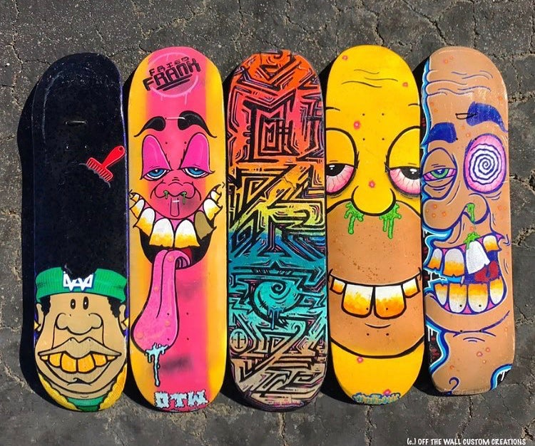 Image of *Custom skateboards