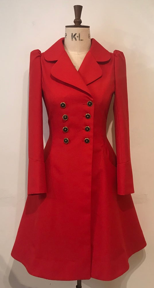 Image of Little red riding dress coat