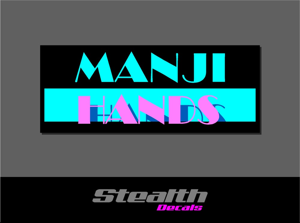 Image of Manji Hands v2 Drift Slap sticker