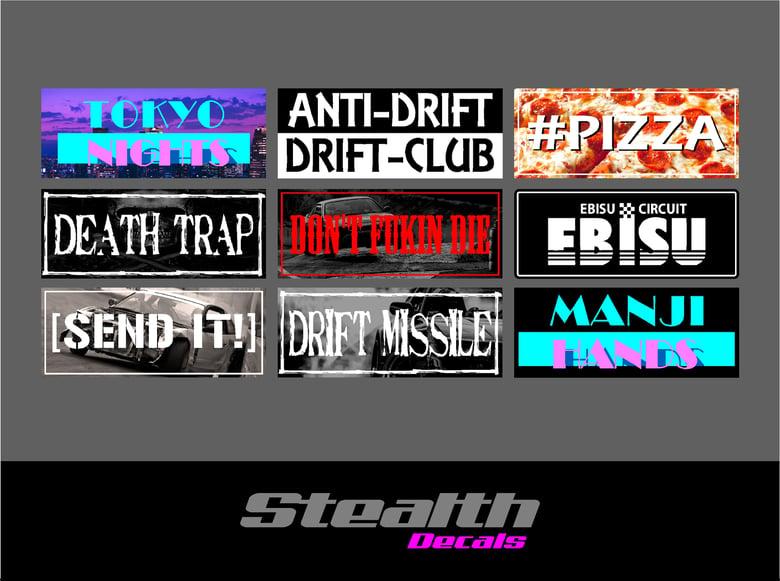 Image of 9x Drift Slap sticker set v3
