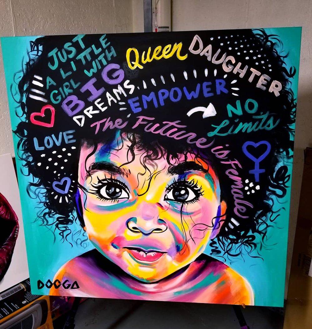 Image of Small Girl Big Dreams - Canvas Print