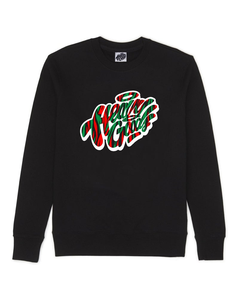 Image of Heavy Goods Zebra Print Sweater