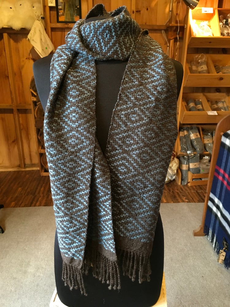 Image of Blue Diamond Scarf