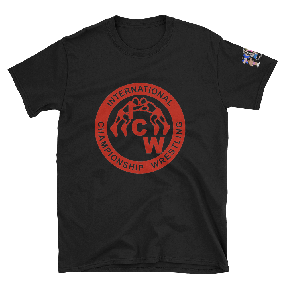 Image of ICW All-Stars Red Logo on Vintage Soft Black Tee