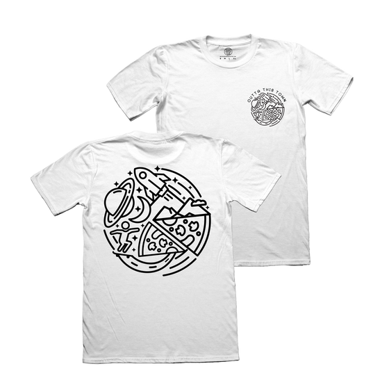 Image of Skate Pizza Explore T-shirt White (Small Only)